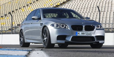<p>How often do you come across a sedan with an F1-derived V10 tucked under the hood? Not often, especially since the current F10 M5 dropped the V10 from the previous E60 M5 in favor of a 4.0-liter twin-turbocharged V8. It makes 560-hp, about 60 more horsepower than the V10, but the signature warble that made the E60 so cool is absent. It's also the first M5 to have a turbo, but certainly not the last.</p>