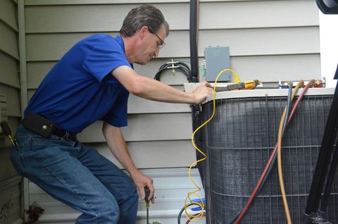 "<p>There's no need to call in an expert to give your furnace or air-conditioner a seasonal checkup. You can maintain your heating and cooling system yourself by following the manufacturer's recommended maintenance schedule, which will help prevent problems before they begin. </p><p><strong>Project:</strong> Depending on what type of furnace you have, you'll want to grab a flashlight and inspect the flue pipe for leaks, change the oil and air filters, and clean the floor and wall vents. </p><p>Air-conditioner maintenance consists of cleaning or replacing air filters to keep the unit running at peak performance and clearing away any dirt and debris that may have accumulated around the air-conditioner coils which rely on clear airflow around the condenser.</p><p>Here's a list of <a href=""http://www.popularmechanics.com/home/interior-projects/how-to/a4125/4313207/"">common heating and cooling problems</a> to look out for, and how to fix them.</p>"