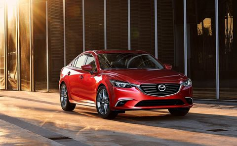 <p><strong></strong><strong>Base Price</strong>: $21,495</p><p>When it comes to driving enjoyment, few midsize sedans can touch the Mazda6. The Mazda connects the driver with the car in a way that feels more like a sport sedan than a pedestrian family car. The swoopy sheetmetal makes it seem more upscale, too, which is impressive considering the design is four years old. An update this year has brought a new instrument panel, a new 7-inch display, and a serious reduction in road noise.</p><p>Under the hood is a 184-hp 2.5-liter four-cylinder paired to precise six-speed manual or a six-speed automatic. Best of all, the most thrifty of all Mazda6 models returns 28-mpg city and a full 40 mpg on the highway. That's at the top of this group. Mazda offers a suite of safety tech under the i-Activesense banner that includes blind spot monitoring, cross traffic alert, and smart brake support.</p>