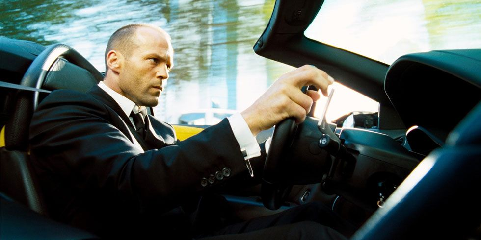 <p>We love Statham in crazy mode (<em>Crank</em>), military mode (<em>Expendables</em>), and laugh-out-loud mode (<em>Spy</em>). But when it comes to no-fuss walloping, we'd prefer that his well-tailored delivery man is in the driver's seat. A man of few words is capable of many a sports-car barrel roll.</p>