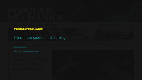 Say No to 'Star Wars' Spoilers With This Vital Chrome Extension