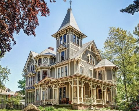 "<p>This Victorian Gothic masterpiece in New Haven, Connecticut proves the old adage, they just don't build 'em like this anymore. Known as Chetstone, the 4,355 sq. ft. home was recently restored with meticulous attention to detail. Inside, you'll find a tower room, gas lamps, marble fireplaces and a working, antique wood-and-rope elevator. We've had our eyes on this beauty since last April, when we <a href=""http://www.countryliving.com/real-estate/news/a35185/were-hoping-this-stunning-victorian-home-shows-up-in-our-easter-basket/"">kindly asked the Easter Bunny</a> to drop it in our baskets. Maybe we'll have better luck with Santa!</p><p><span></span><strong>Asking price:</strong> $438,000</p><p>For more information, visit <a href=""http://www.chetstoneforsale.com/"">ChetstoneForSale.com</a></p>"