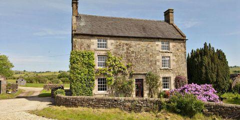 Window, Plant, Property, House, Shrub, Building, Land lot, Rural area, Real estate, Lavender,