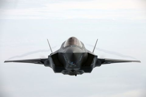 <p>This stunning shot of an F-35 was taken during aerial refueling training with Marine Aerial Refueler Transport Squadron 252 above North Carolina. Few people are lucky enough to get this view in person.</p>