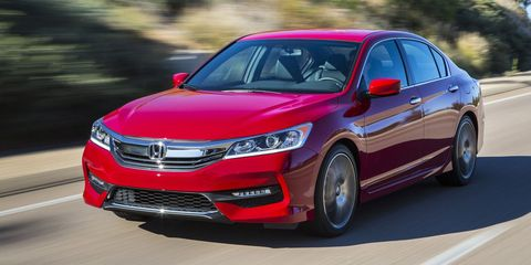 <p>Midsize family sedans, especially Japanese ones, are usually written off as bland, dull, and uninspiring. Be careful saying that about the Honda Accord. It's actually pretty fun to drive, and the manual transmission Honda offers with the four-cylinder engine is pretty darn good.</p>