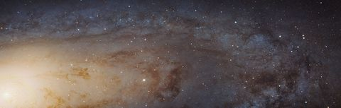 """<p>A <a href=""""http://www.popularmechanics.com/space/a13627/hubble-space-telescope-takes-biggest-picture-ever-andromeda-17653078/"""">1.5 billion pixel image of the Andromeda Galaxy</a>, taken by Hubble. Some individual stars can be resolved in the image. (<a href=""""http://www.spacetelescope.org/images/heic1502a/zoomable/"""">Source</a>)</p>"""