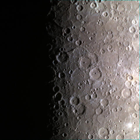 "<p>The cratered surface at the south pole of Mercury, taken by the MESSENGER space craft. (<a href=""http://photojournal.jpl.nasa.gov/catalog/PIA19204"">Source</a>)</p>"