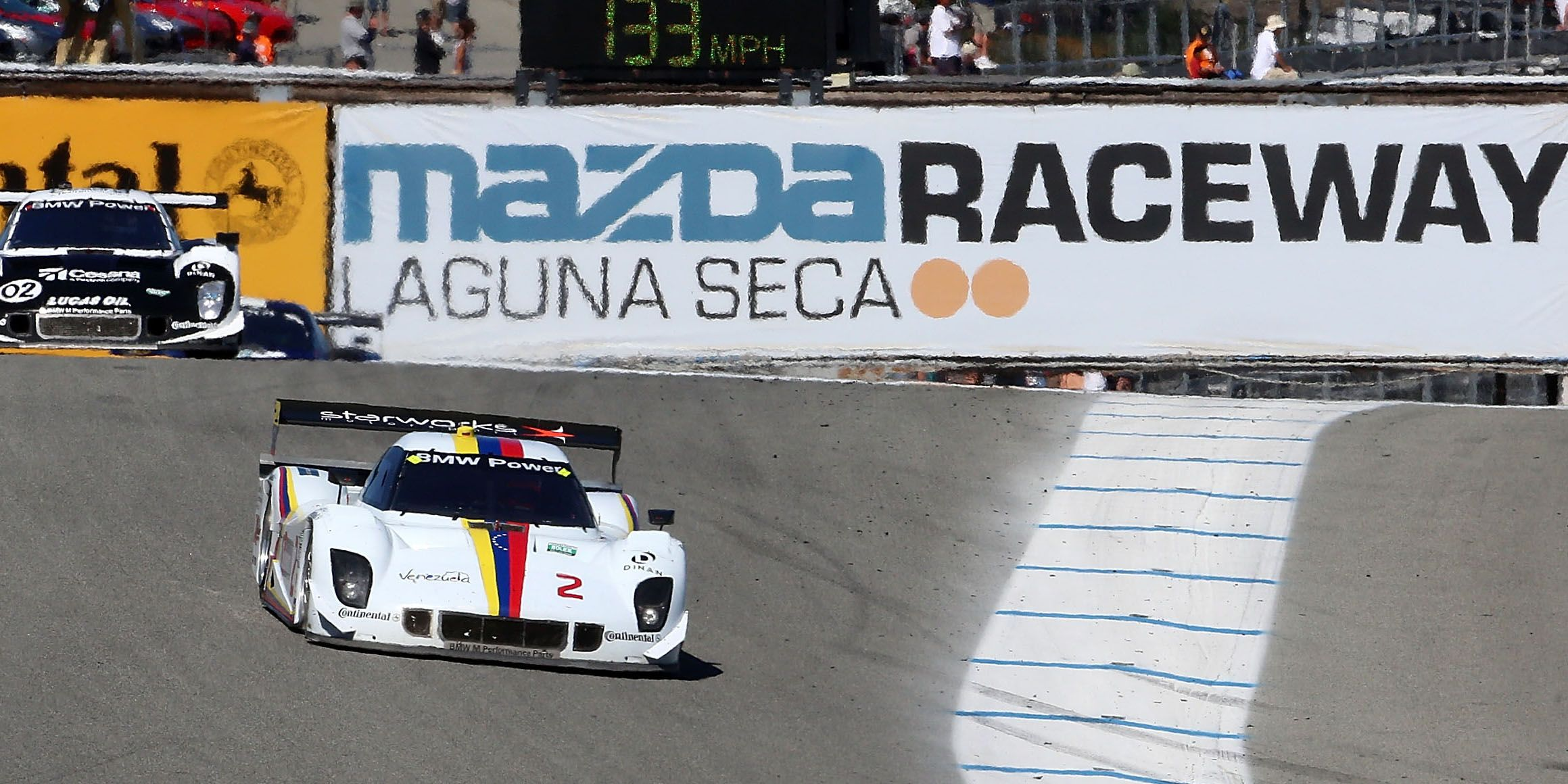 "<p><a href=""http://www.mazdaraceway.com/track"" target=""_blank"">Built in 1957</a> following the widespread public love of the Pebble Beach Road Races, Mazda Raceway Laguna Seca in Northern California is marked by 11 turns, the most famous of which is the Corkscrew. The weather is nearly always perfect, the track is the right amount of challenging, and it's even perfect for spectators.</p>"