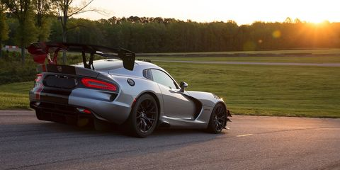 """<p>The Dodge Viper is about to be killed off, but that doesn't mean it's going away quietly. The Viper ACR just recently <a href=""""http://www.roadandtrack.com/new-cars/news/a27254/the-dodge-viper-is-going-out-on-a-high-note-setting-13-track-records/"""" target=""""_blank"""">set a record at 13 different race tracks</a>. There's a multitude of factors that go into making a car that fast around the track, but one of them is the downforce created by one of the largest wings you can buy on a factory car.</p>"""
