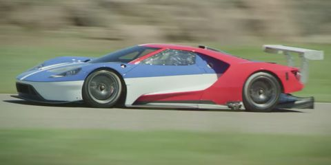 """<p>Considering how successful the Ford GT40 was at the racetrack, you would expect any car continuing that legacy to be fast. It's also going to need plenty of downforce. <a href=""""http://www.roadandtrack.com/car-culture/car-design/g6250/see-a-ford-gt-inspired-sandwich-foosball-table-and-more-at-milan/?"""" target=""""_blank"""">With the new GT</a>, which has a stealth retractable wing, and its race car brother, the Ford GT, which has a pretty damn ostentatious fixed wing (above), Ford's wing-game is on point.</p>"""