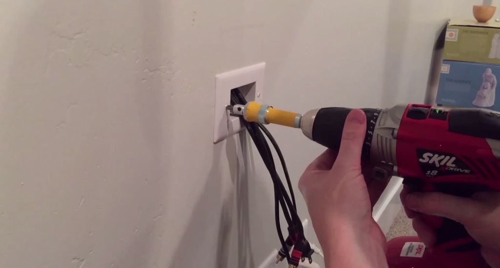 How to Hide a Hanging TV's Unsightly Wires for Less than $15 Hidden Wiring on