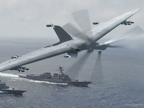 The US Navy Wants To Fly Big Drones From Small Ships