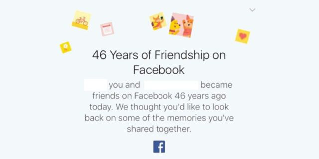 Why Facebook Is Congratulating People on an Impossible 46 Years of Friendship