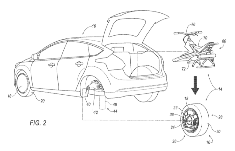 Ford Imagines a Wacky Car Wheel That Separates To Become