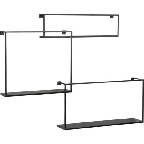 cb2 floating shelves set of three