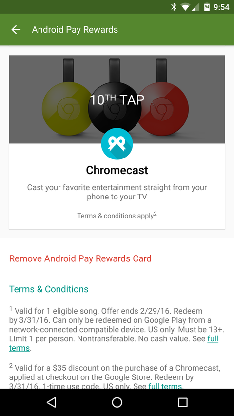 Want a Free Chromecast? It Could Be As Easy As Using Android Pay