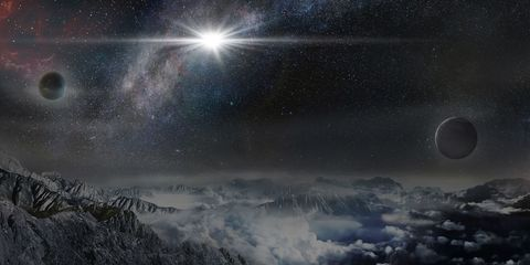 Sky, Atmosphere, Astronomical object, Atmospheric phenomenon, Star, Space, Outer space, Astronomy, World, Lens flare,
