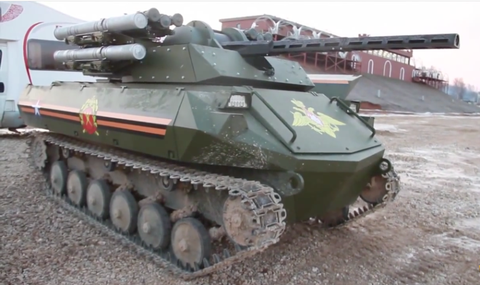 The Kremlin's Tiny Remote Controlled Tank Bristles With Weapons
