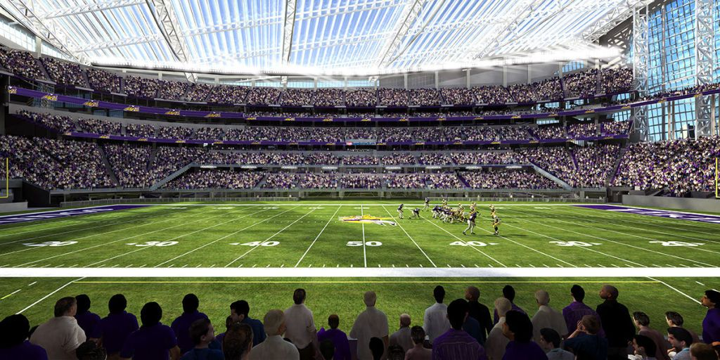 Using The Nationu0027s Largest ETFE Roof And Pivoting Glass Doors, The New Home  Of The NFLu0027s Minnesota Vikings, U.S. Bank Stadium, Is An Enclosed Stadium  That ...