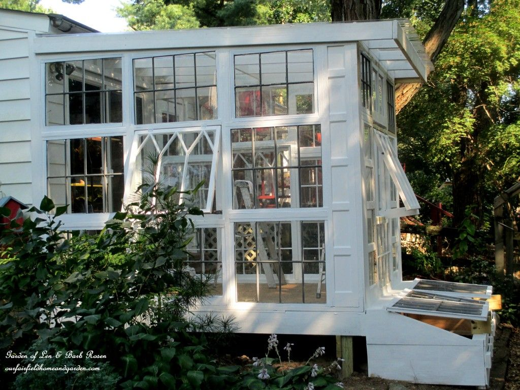 Vintage Windows Transformed Into a Gorgeous Greenhouse