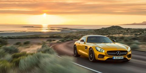"""<p>The <a href=""""http://www.roadandtrack.com/new-cars/news/a8651/meet-the-2016-mercedes-amg-gt/"""">AMG GT</a> already looks like it's convertible-ready. And why shouldn't it be? Mercedes shamelessly made a <a href=""""http://www.roadandtrack.com/new-cars/first-drives/reviews/a18174/20-hot-convertibles-2012-mercedes-benz-sls-amg-roadster/"""">roadster version</a> of its predecessor, the SLS AMG, and it looked simply fabulous. There's always been a Carrera and Carrera S Cabriolet—so an AMG GT Roadster would fit in well.</p>"""