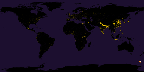 This Map Shows How Tightly Humanity Is Concentrated Around the World