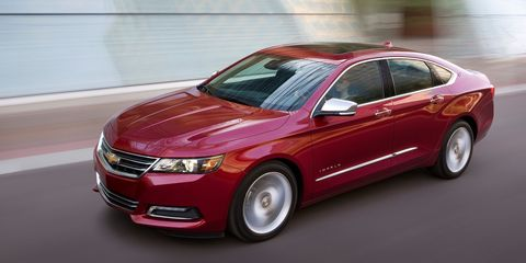 """<p>You mostly see Impalas parked in front of the Piccadilly or on I-95 making another run between Florida and New York, but despite the Impala's popularity with the elderly, don't be mistaken—the V6 version is quick. It will hit 60 mph <a href=""""http://www.caranddriver.com/reviews/2014-chevrolet-impala-36l-v-6-instrumented-test-reviews"""" target=""""_blank"""">nearly a half second faster</a> than the Mustang. Maybe that's why Grandpa loves his new Impala so much.</p>"""