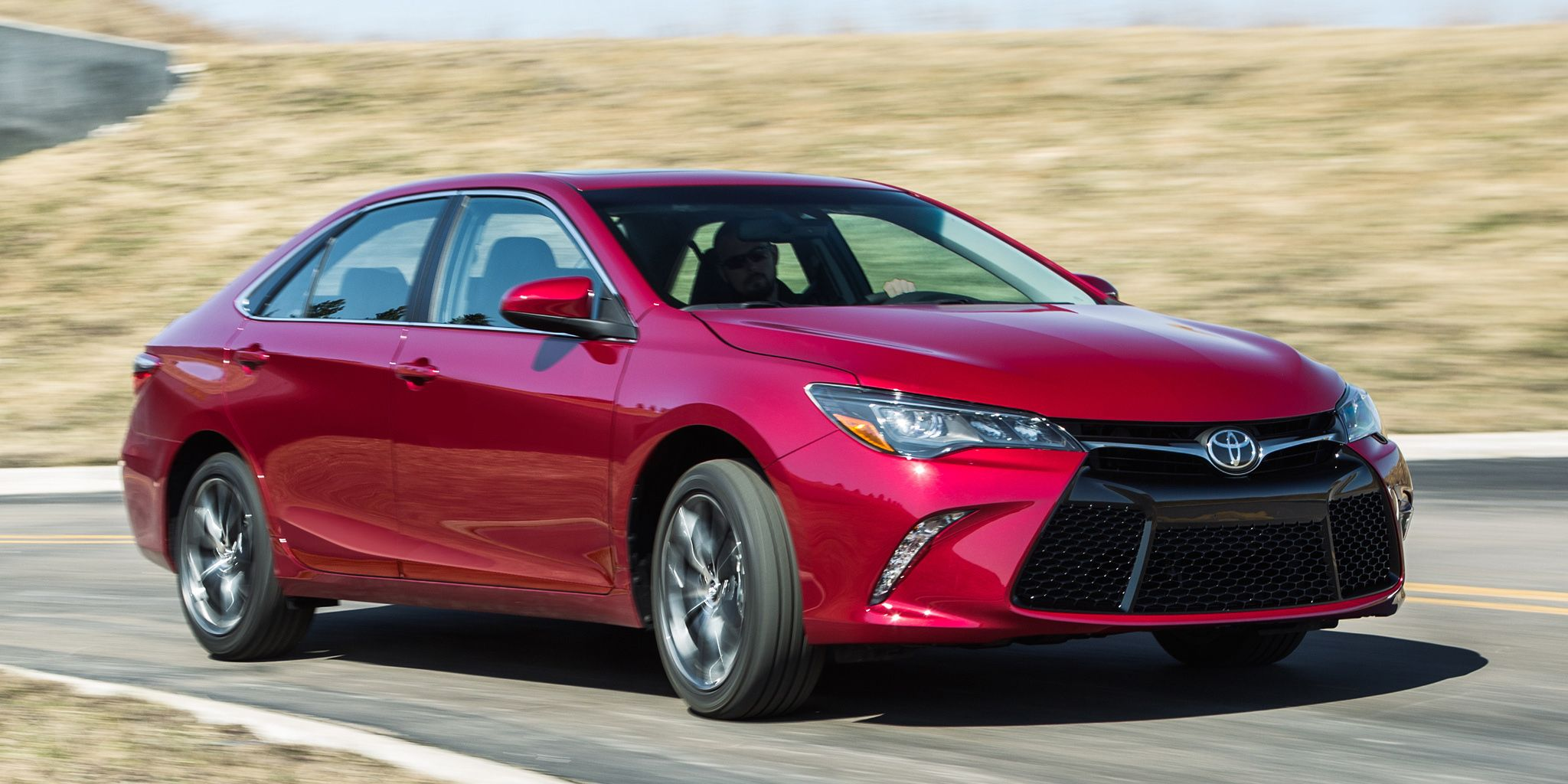 "<p>Other than the Toyota Prius, there are few cars enthusiasts love to rag on more than the Toyota Camry. Underneath its newly aggressive styling, it's comfortable and reliable but bland. No one's going to argue that the Camry has been turned into a sports sedan, but with a V6, you also can't call it slow. Put your foot down, and <a href=""http://www.caranddriver.com/toyota/camry"" target=""_blank"">you'll knock the socks off</a> of more than a few cars on the road.</p>"