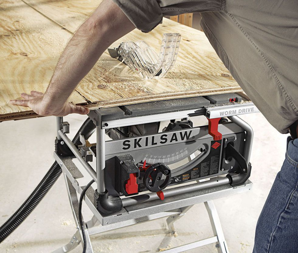 Make Faster Rip Cuts With the First Worm-Drive Portable Table Saw