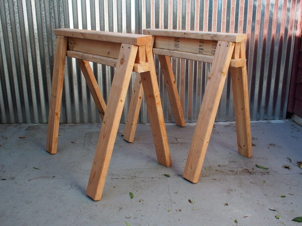 Incredible How To Build Stackable Sawhorses Machost Co Dining Chair Design Ideas Machostcouk