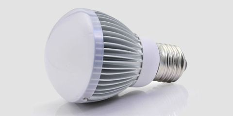 Product, Light bulb, Fluorescent lamp, Compact fluorescent lamp, Still life photography, Silver, Cylinder, Plastic, Steel, Cleanliness,