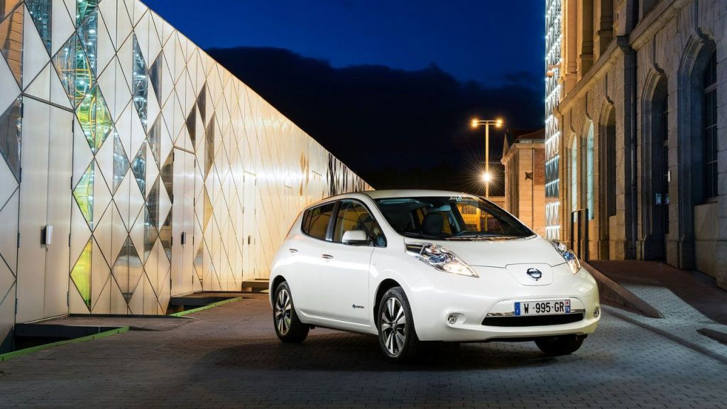 The 2016 Nissan Leaf.