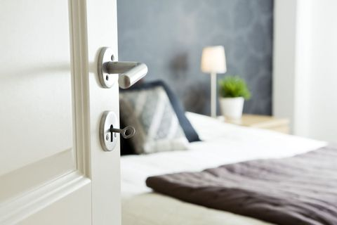 """<p>In terms of sound blocking, the doors in your home probably aren't cutting it. That's because most interior doors are hollow, <a href=""""http://www.hometips.com/buying-guides/soundproofing-insulation.html"""" target=""""_blank"""">according to a spokesperson</a> for the National Wood Window & Door Association. """"Any one of the particleboard-core, composite-core, or solid-wood doors would work much better at providing a sound barrier than a hollow-core door.""""<br></p>"""
