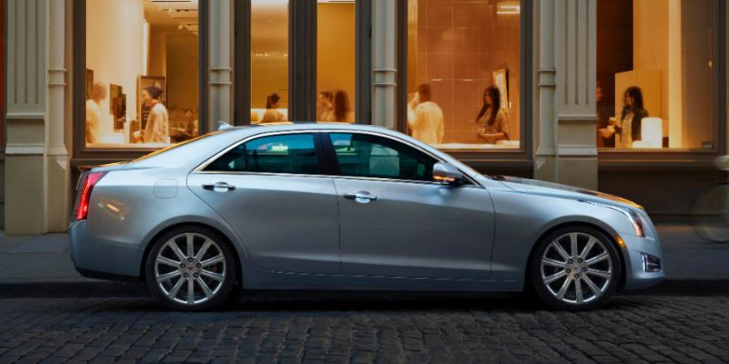 """<p>The 2.0-liter four-cylinder turbocharged engine in the ATS offers 295 lb-ft of torque. Horsepower comes to 272. The <a href=""""http://www.roadandtrack.com/car-shows/detroit-auto-show/news/a27870/cadillac-smaller-rwd-sedan/"""">Alpha platform it rides on</a> is constructed from a lightweight blend of steel and aluminum, making it a fun little sports sedan that can give the BMW 3-Series a run for its money.</p>"""