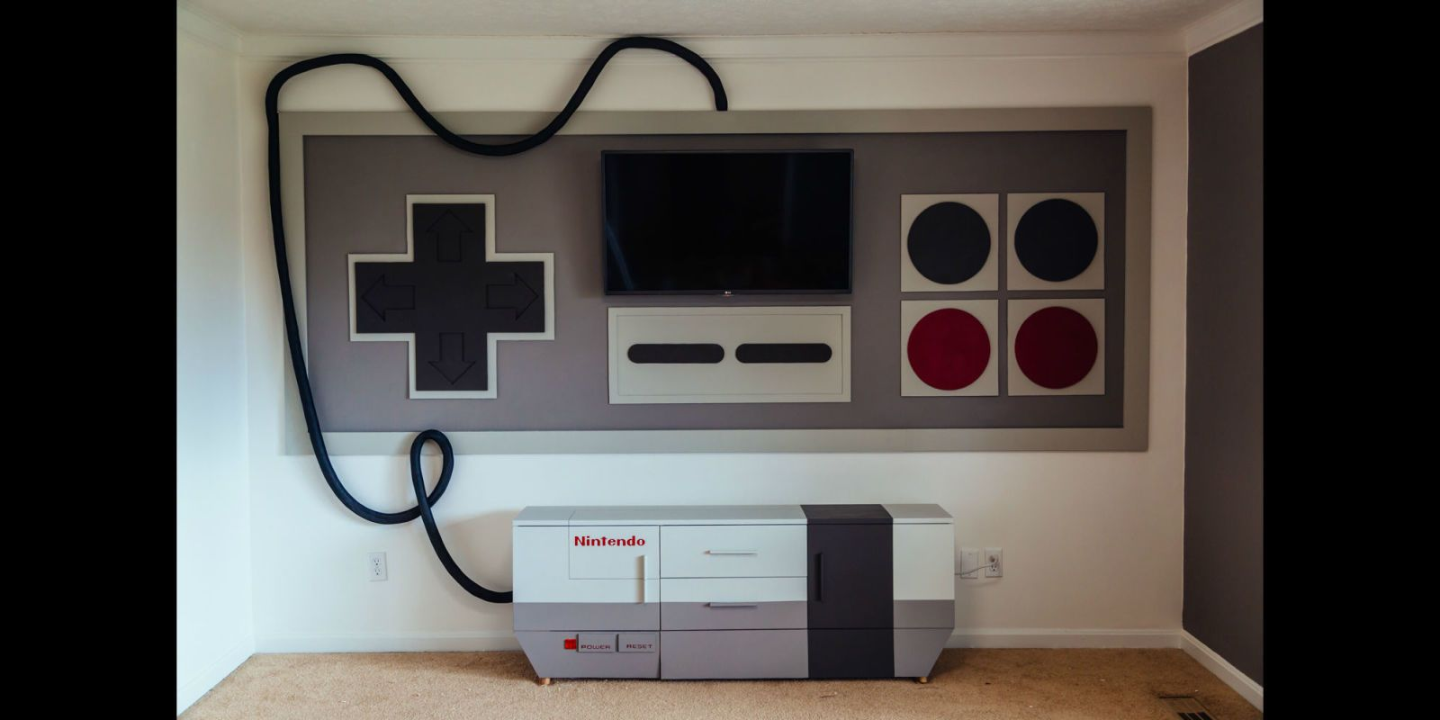 Game Room Ideas: Turn Your Entire Wall Into a Giant Nintendo