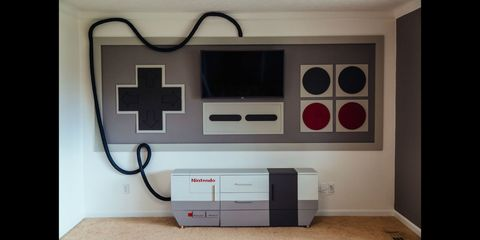Electronics, Furniture, Gadget, Room, Technology, Electronic device, Design, Interior design, Video game console, Super nintendo entertainment system,