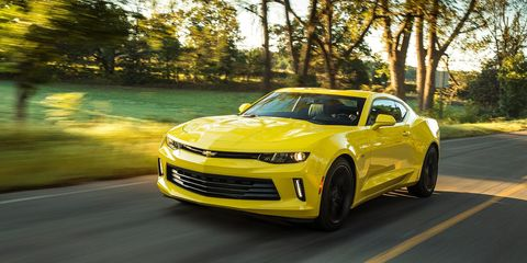"<p>The new <a href=""http://www.roadandtrack.com/new-cars/first-drives/a27066/2016-chevrolet-camaro-ss-first-drive/"" target=""_blank"">Camaro SS is undeniably awesome</a>, and if you get the automatic, that big V8 will do 28 mpg on the highway. Drivers looking for more fuel-efficient fun can eke out an extra three miles per gallon if they opt for the base engine, a 2.0-liter turbocharged four-cylinder. It makes 275 horsepower and 295 lb.-ft. of torque, good for 0-60 in 5.4 seconds, but it's also rated at 31 mpg highway.</p>"