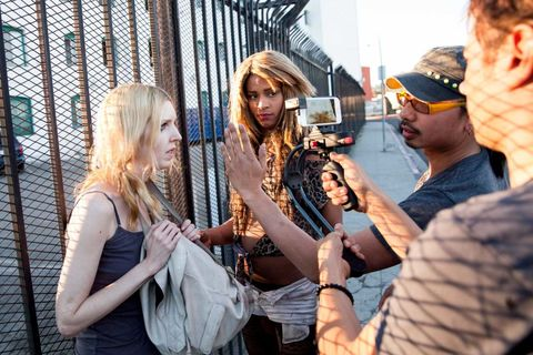 "<p><strong><em>Tangerine</em></strong></p><p><span>Filmmaker Sean</span><strong> </strong>Baker's <em>Tangerine</em> is a funny, touching look into the lives of two transgender Los Angeles prostitutes. Just as memorable as the script, however, is the film's innovative handheld camerawork, which captures the intimacy of the characters' lives as well as the sun-splashed streets of Hollywood. Baker shot it all on an iPhone 5s.</p><p>""There's a very specific light to L.A.,"" Baker says. ""It's caused by pollution. The particles, during sunset, light up and become this beautiful orange hue."" Baker used an anamorphic adapter lens from Moondog Labs, allowing him to ""spread the light horizontally across the frame."" Using FiLMiC Pro (a focus and exposure app) and Smoothee (a device to keep shots steady), Baker and cinematographer Radium Cheung tested for a month before filming.</p><p>Baker valued the iPhone's size as much as he did the price. ""If you're trying to combine narrative and documentary, and to capture real street life—then you are one step away from having a hidden camera,"" he explains. The type of camera he uses next depends on the project. But if he uses an iPhone, he'll be sure to get the newest model. ""We shot <em>Tangerine</em> a year and a half ago. You don't even need Smoothee anymore, because the stabilizer within the new iPhone 6 is so wonderful.""</p>"