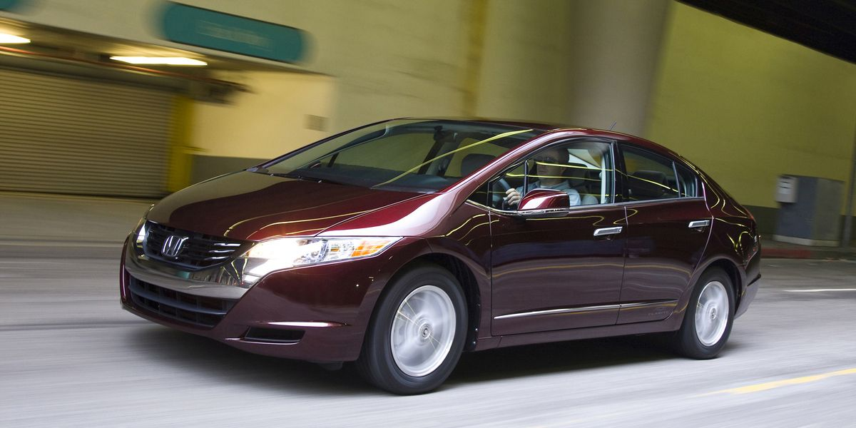 """<p>The FCX Clarity was the first hydrogen fuel cell car available to the public. But nobody could buy them because Honda only leased them, and <a href=""""http://www.caranddriver.com/reviews/2009-honda-fcx-clarity-road-test"""">only to people living in Southern California</a>. The problem is that there's still no real infrastructure for hydrogen fueling, which makes these cars more experiment than replacement for production car. </p>"""