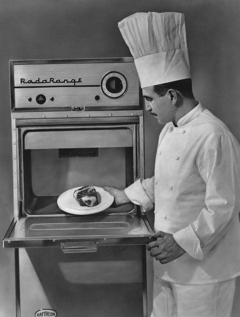 A Chef Using Raytheon Radarange Iii An Early Commercial Microwave Oven Circa 1958