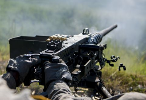 Soldier, Shooting, Military person, Gun, Machine gun, Firearm, Military uniform, Military camouflage, Army, Military,