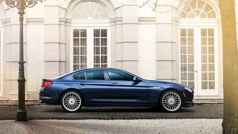 "<p>The <a href=""http://www.roadandtrack.com/new-cars/news/a28123/2017-bmw-alpina-b7-xdrive-first-look/"">Alpina B7</a> is a 600 horsepower version of the V8 BMW 7-Series. Alpina's specialty is grand touring, not all out performance like BMW M, so expect this car to be insanely comfortable on the autobahn.</p>"
