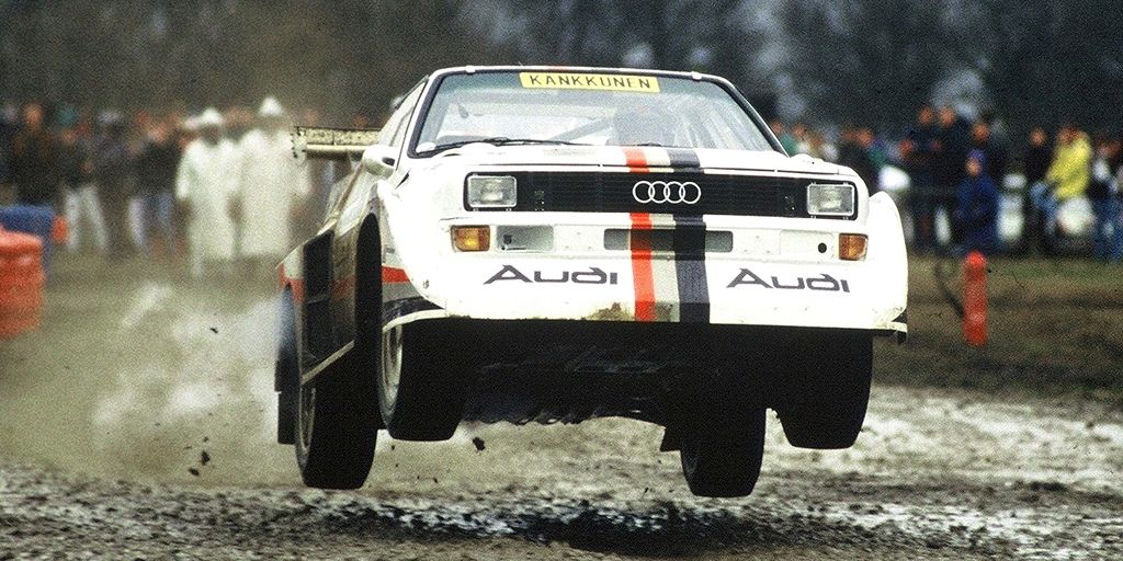 <p>Before Audi's all-wheel drive technology dominated Trans-Am racing, it was helping the company excel at rallying. Over the course of several generations, Audi's Quattro won rally after rally, culminating in the Sport Quattro S1 E2. While not quite as successful in WRC as previous versions, the S1 E2 is also notable for winning Pike's Peak's hill climb in 1987.</p>