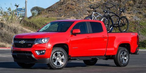 """<p>For people who don't need to tow anything major, the mid-sized Colorado pickup is the perfect answer. But if you want the the six-speed manual, you <a href=""""http://www.roadandtrack.com/new-cars/first-drives/reviews/a8753/10-things-i-learned-driving-the-2015-chevrolet-colorado/"""">have to go with the RWD extended-cab configuration</a> and the 2.5-liter engine with 200 hp.</p>"""