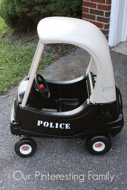 """<p>If your kid always answers the what-do-you-want-to-be-when-you-grow-up question with """"police officer,"""" you'll be the best parent ever if you make them their very own neighborhood patrol car.</p><p><a href=""""http://ourpinterestingfamily.blogspot.com/2013/08/little-tikes-coupe-redo.html"""" target=""""_blank""""><em>See more at Our Pinteresting Family »</em></a></p>"""