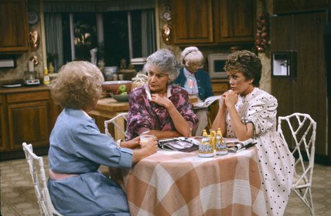 "<p>In a home with four women, you'd think they'd each want a spot at the dinner table. But four chairs just <a href=""http://mentalfloss.com/article/56215/20-fun-facts-about-golden-girls"" target=""_blank"">didn't work for filming</a> (they'd have to awkwardly squeeze to all be on camera). If all of the women needed to be sitting, one would perch on a tall stool by the island.</p>"