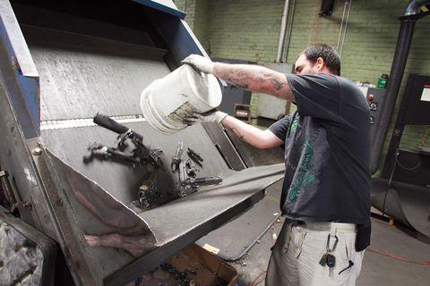 Tradesman, Machine, Engineering, Tool, Carpenter, Belt, Safety glove, Glove, Power tool,
