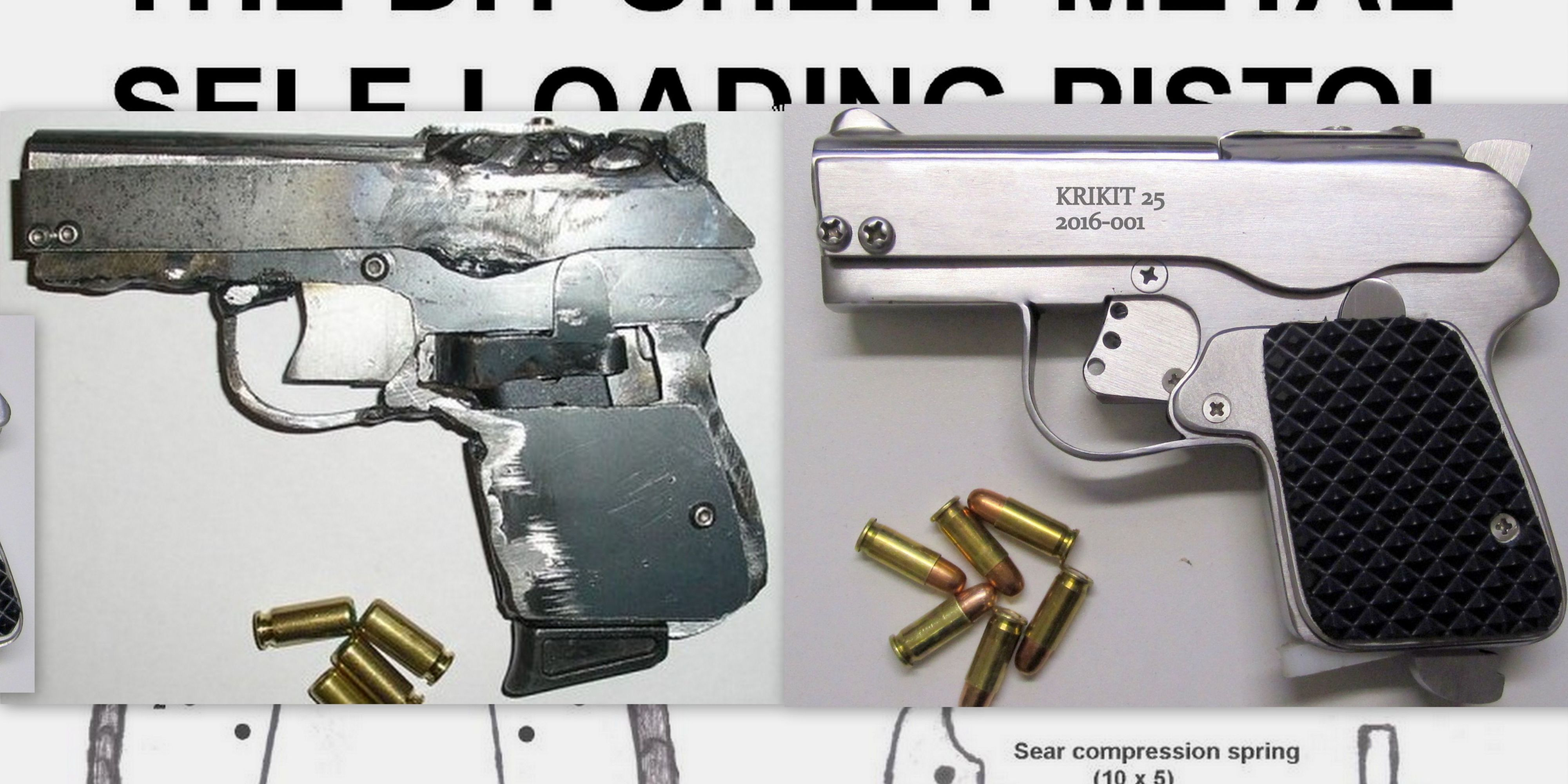 Watch a DIY Semi-Auto Pistol Built From Scratch With Basic Tools