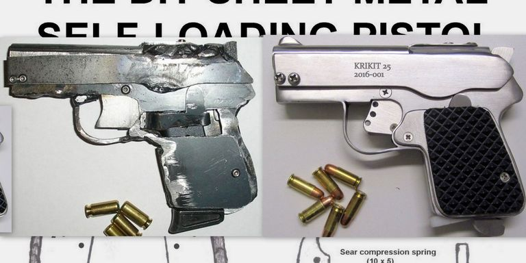 Watch a DIY Semi-Auto Pistol Built From Scratch With Basic ...