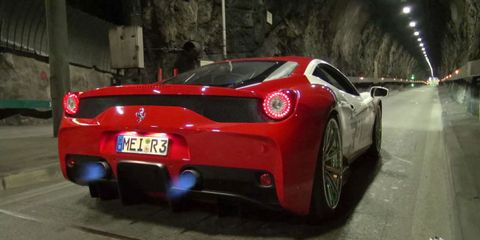 This Straight-Pipe Ferrari 458 Speciale In a Tunnel Will Slay Your Ears